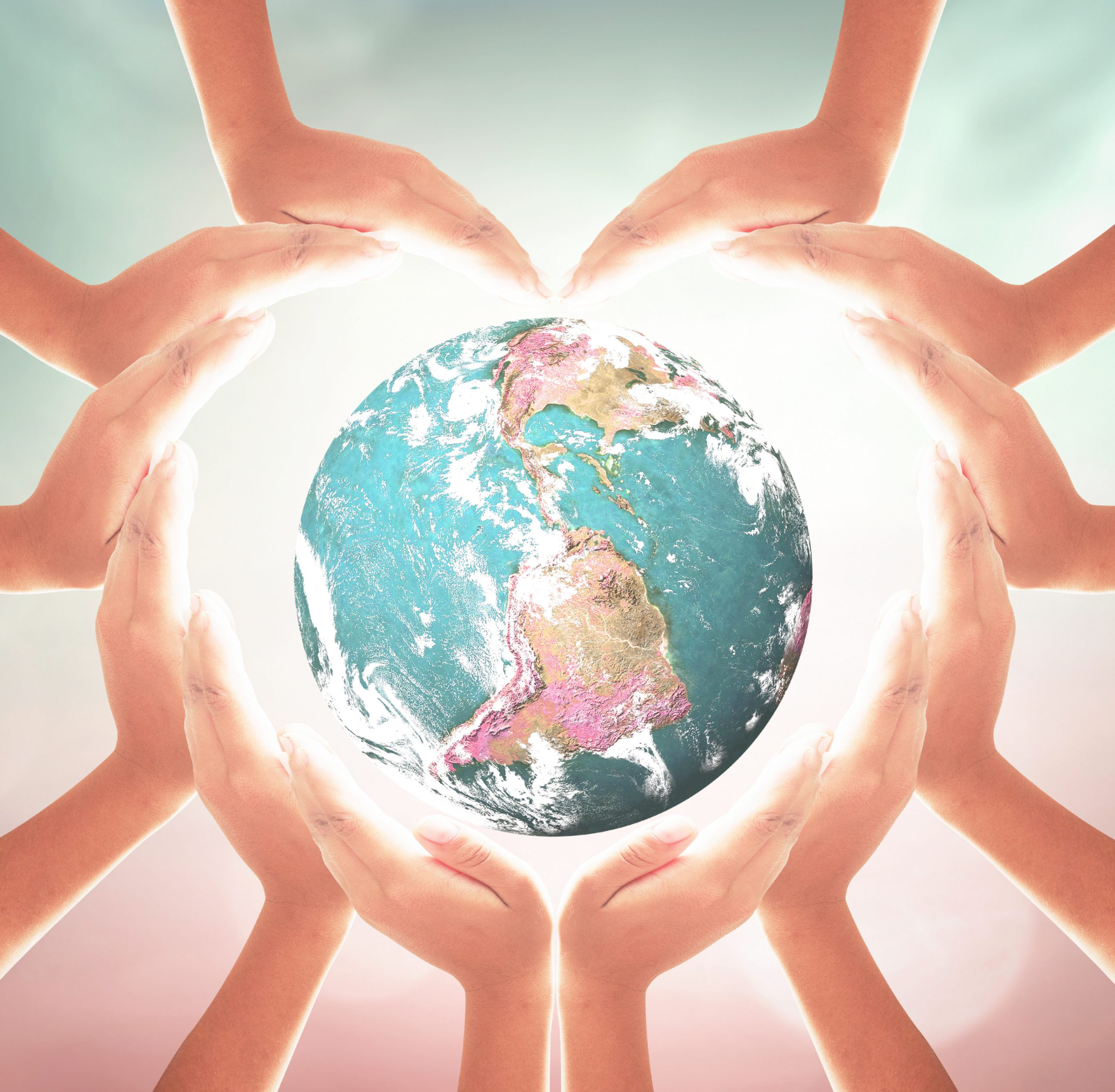 Earth and Heart of hands